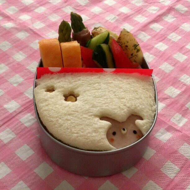 【キャラクター】キャラ弁の進化系!これが『キャラサンドイッチ弁当』だ☆