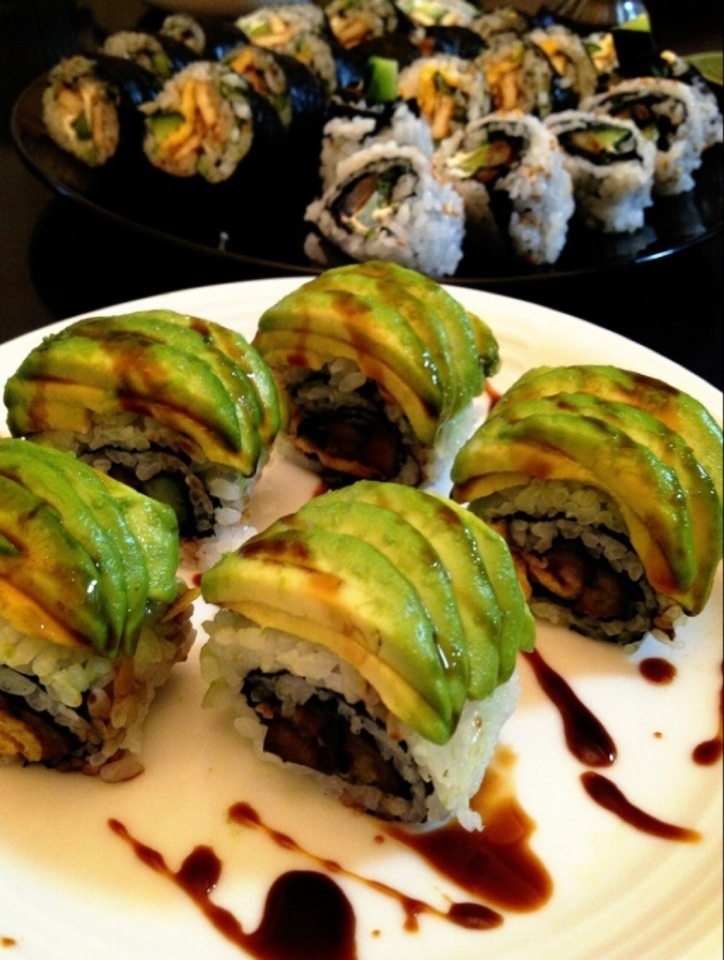 Caterpillar roll of eggplant♡with balsamic sauce