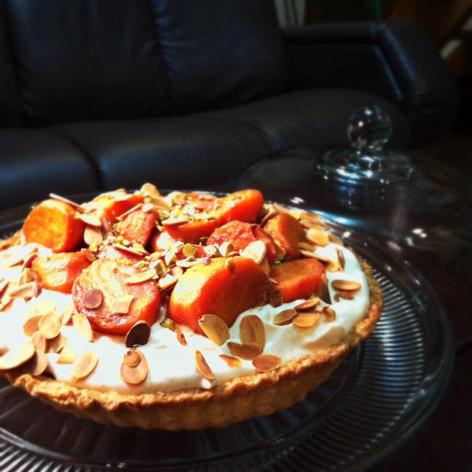 柿のラム酒シナモングラッセのタルト