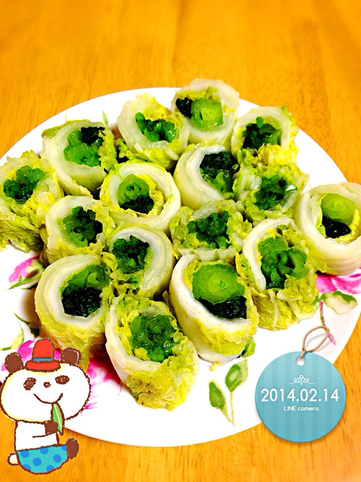 白菜ロール Chinese cabbage roll