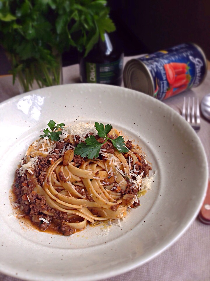 Fettuccine with duck and chestnut ragu