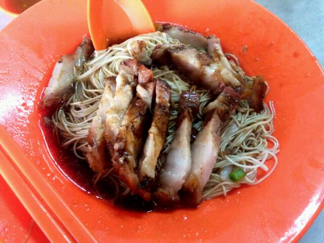 roasted pork dry noodles