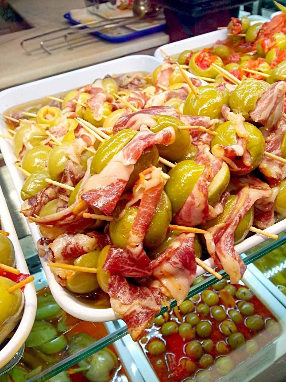 Ham with olive!!! Enjoy Spanish tapas!