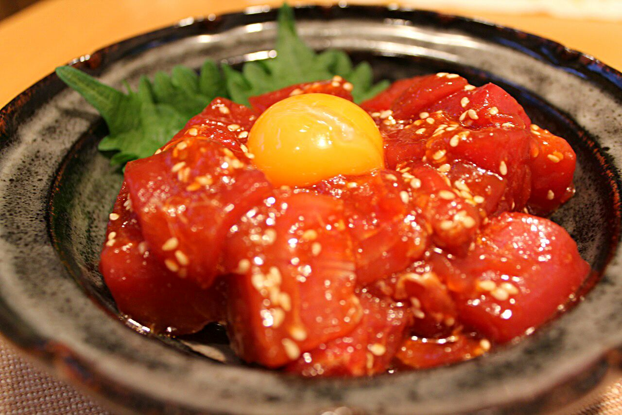 人気 レシピ マグロ ユッケ