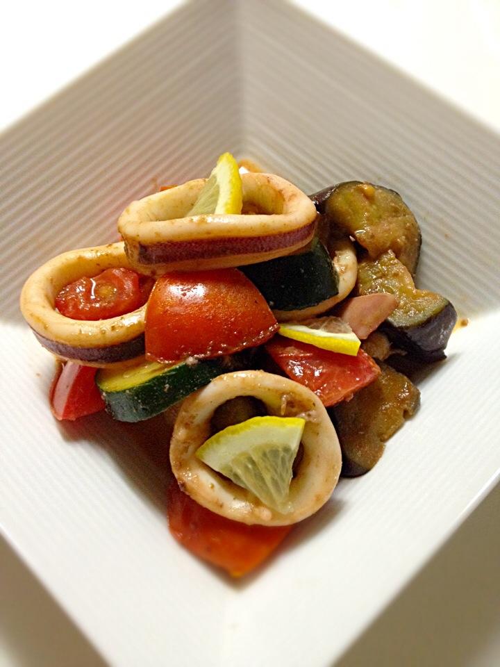 夏 野菜 炒め
