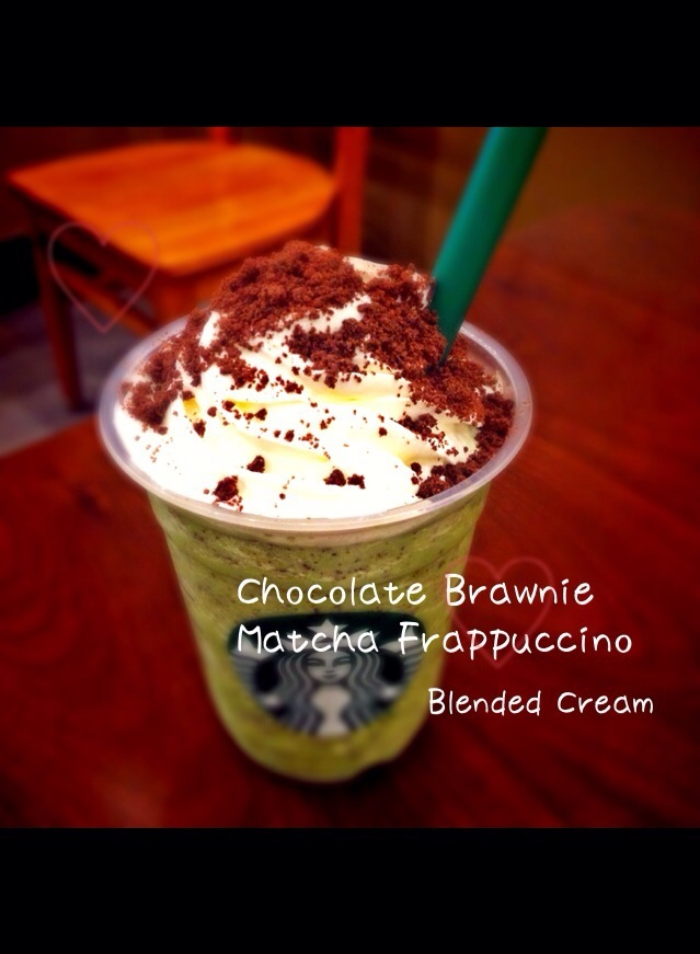 Chocolate Brawnie Matcha Frappuccino /Blended Cream