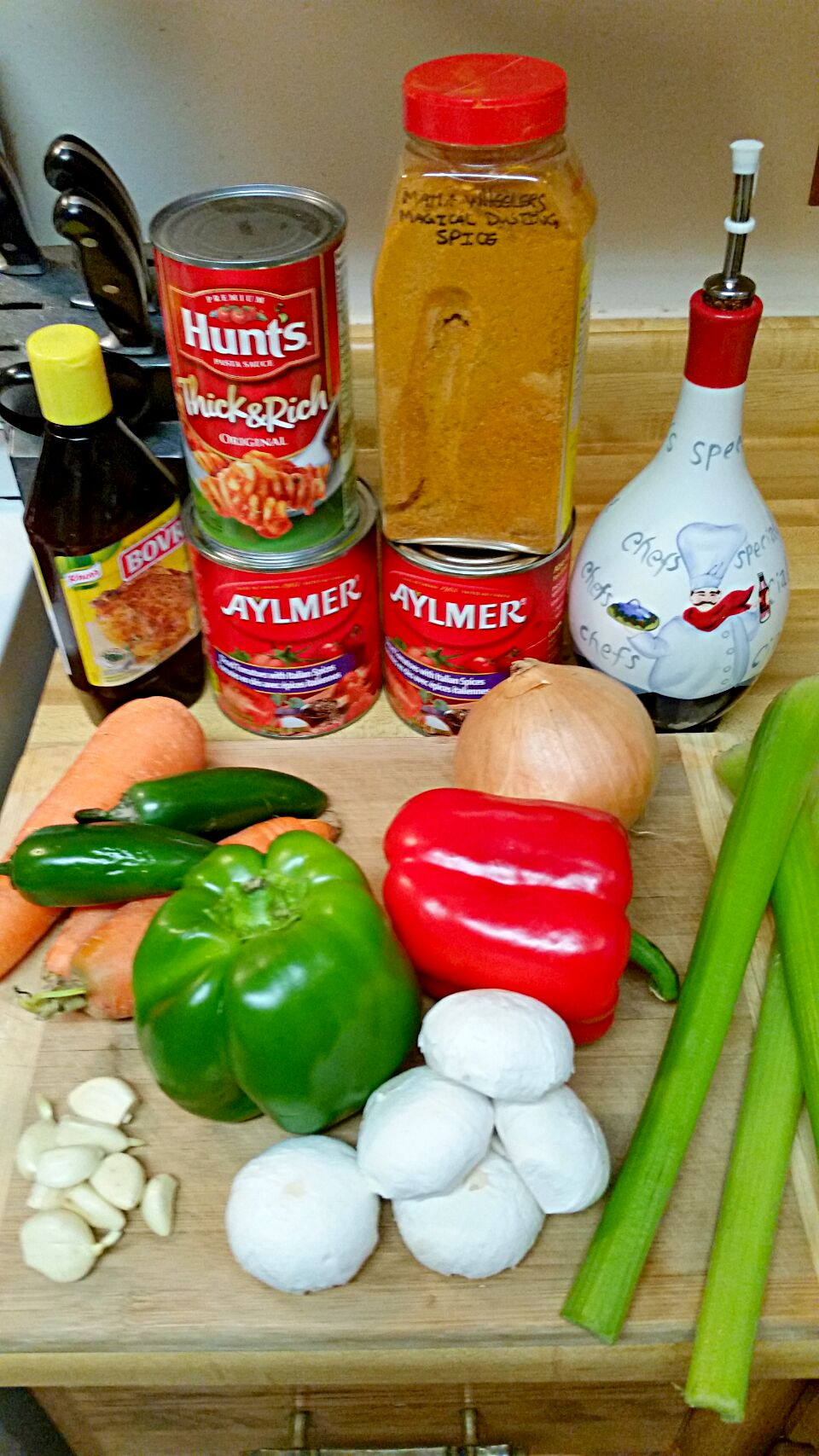 Makings of a great sauce for my meatball cassorole