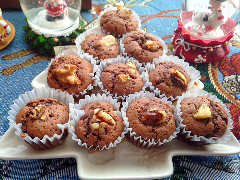 TGIF.🎄🎄Walnut and coco muffin using Olive oil