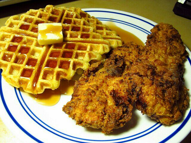 My Mom's Southern Fried #Chicken & Waffles #Breakfast/Brunch #Beignet / Pancake  #Lunch #Dinner 2014