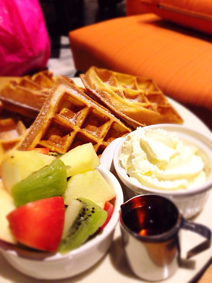 Rum Soaked Fruits Waffles