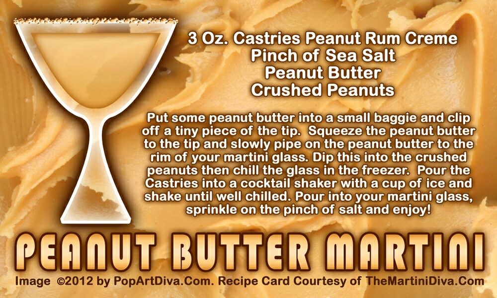 NATIONAL PEANUT BUTTER DAY 💚 PEANUT BUTTER MARTINI 🍸 #Drinks #Alcohol 🍸