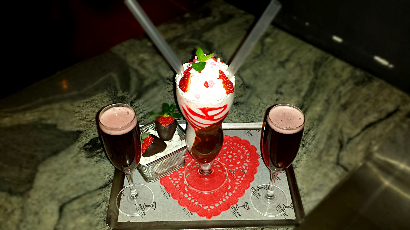 Valentines Special, strawberry shake with framboise