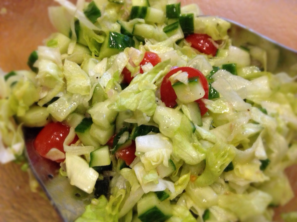 Fresh salad with cucumber and tomatoes
