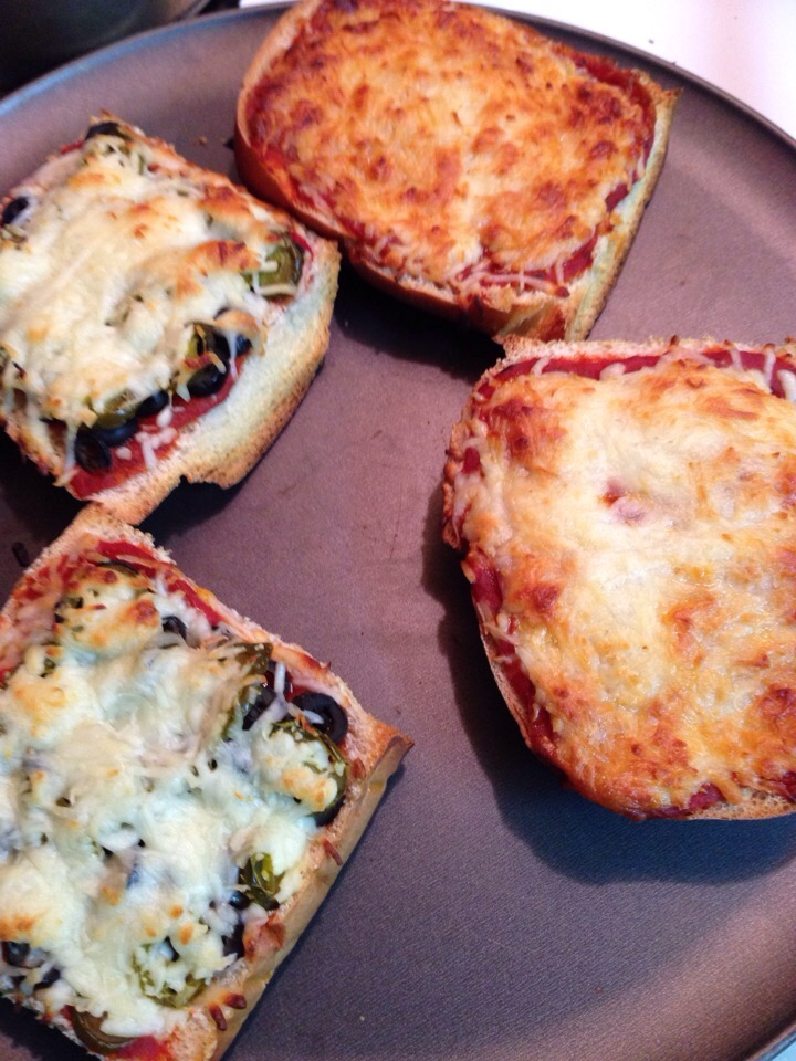 Homemade French bread pizza's