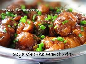 Soya chunks/meal maker manchurian