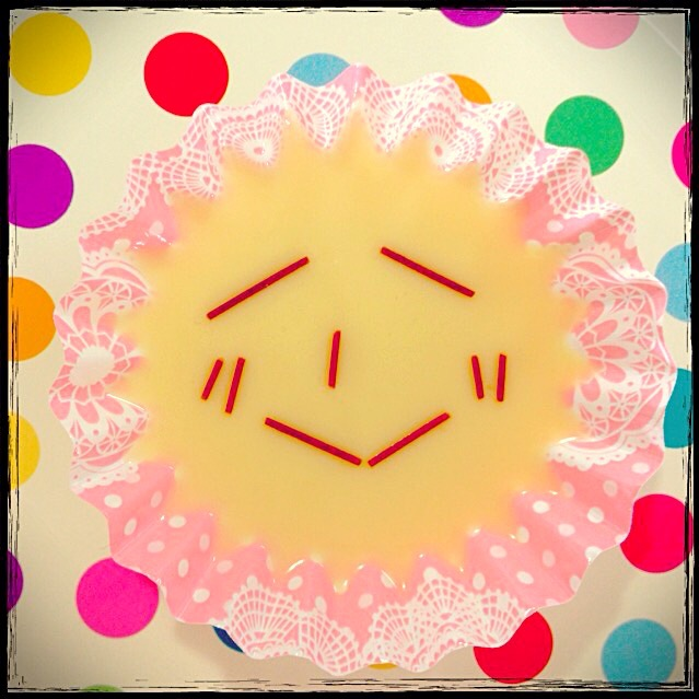 Smile Pudding made by my daughter 娘作  プリン😊
