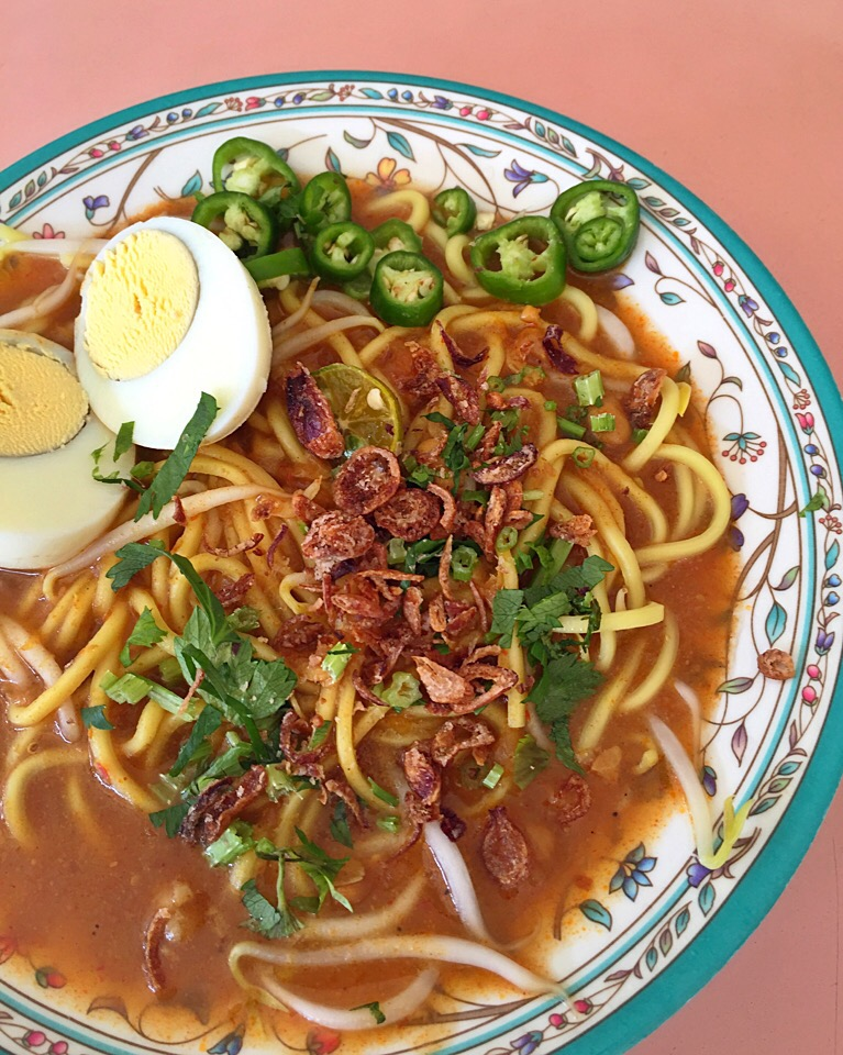 Mee Rebus - noodles in a slightly spicy curry gravy