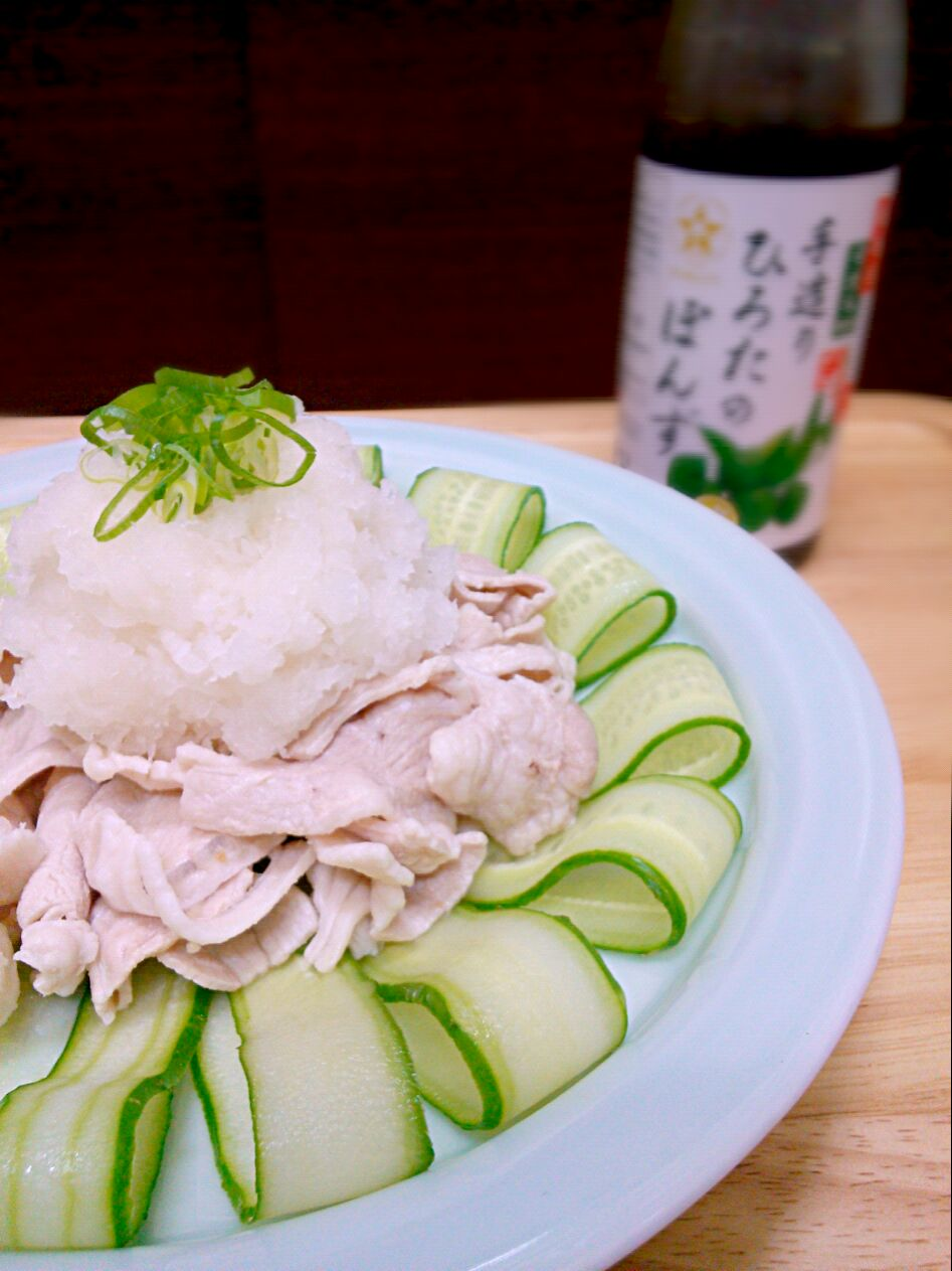 boiled pork dressed with grated daikon!!