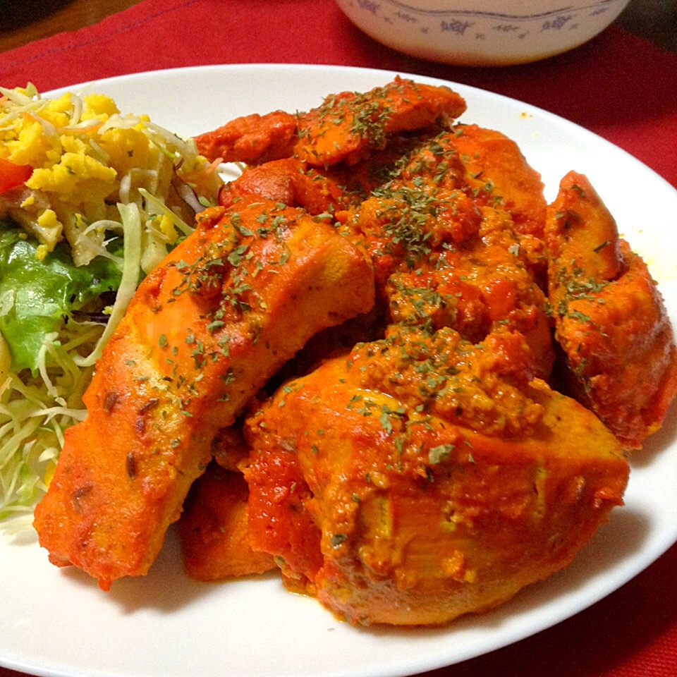 My Birthdayにタンドリーチキン👳🏼 Indian Tandoori Chicken!! Why did I eat the Chicken for my birthday?