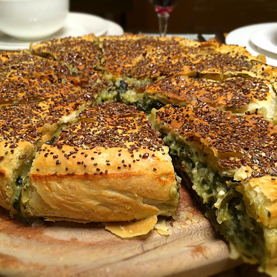 Spinach and cheese pie;))