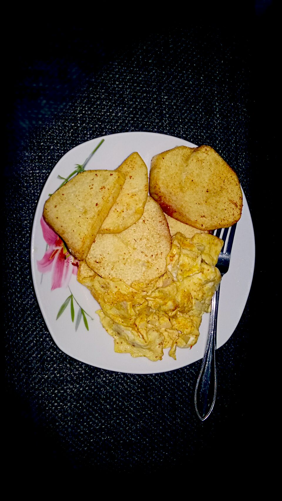 fried yam and eggs #foodie