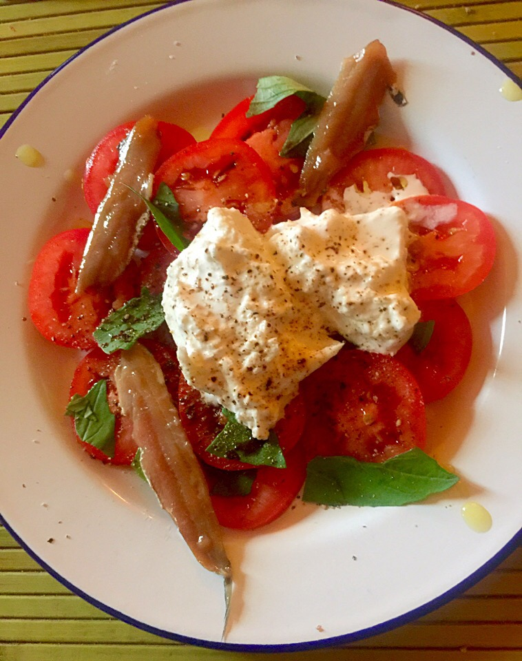 Tomato salad with burrata