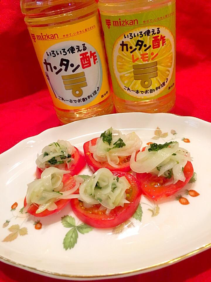 トマト と 玉ねぎ の サラダ
