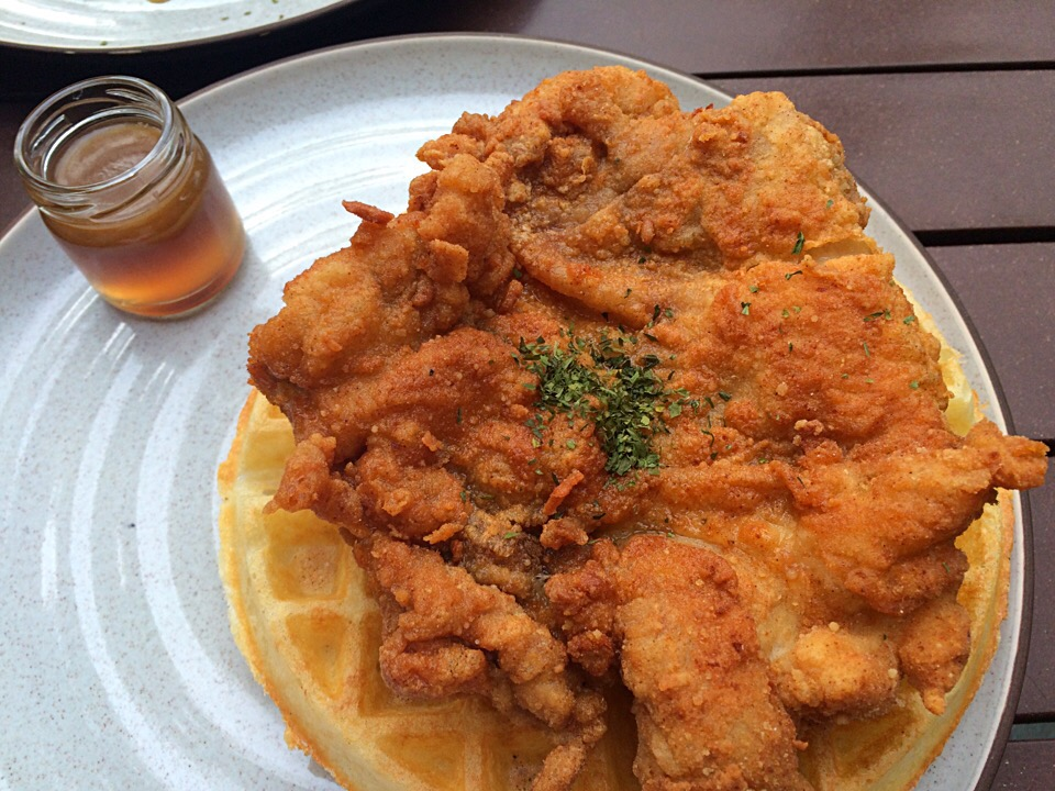 Chicken and waffles @ The Beast