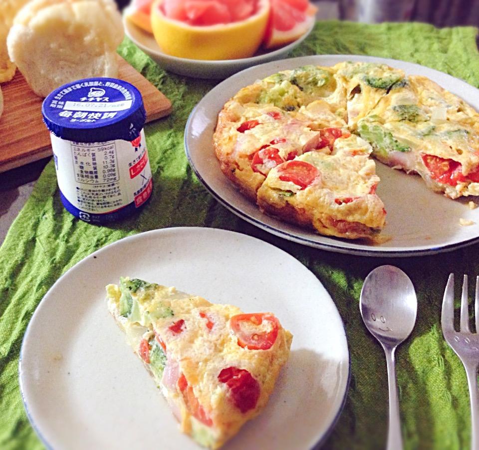 イタリアの卵料理「フリッタータ」レシピ!冷めてもおいしい♪