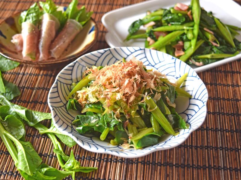 「つるむらさき」は今が旬の緑黄色野菜   日本料理 …