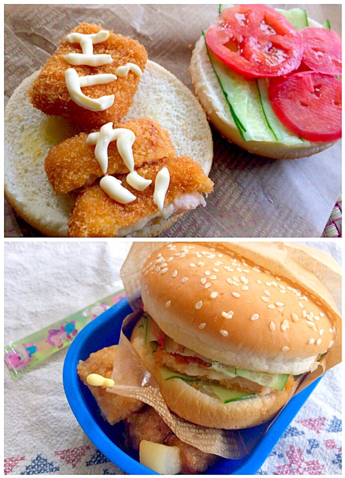 Lunch box☆Fried shrimp sandwich🍤海老カツサンド