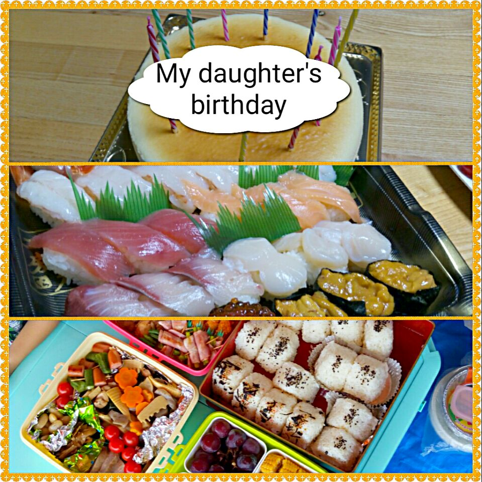 11/07 sports festival and my  daughter's birthday #Birthday #sport