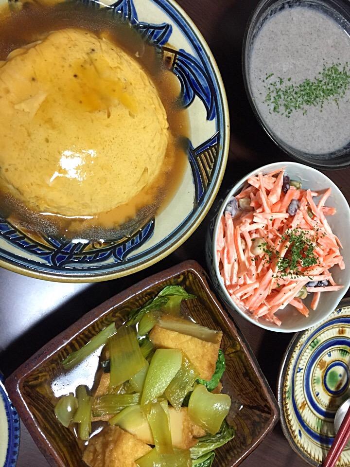 12月12日晩ご飯。レシピの女王レシピのレンチンでカニ玉