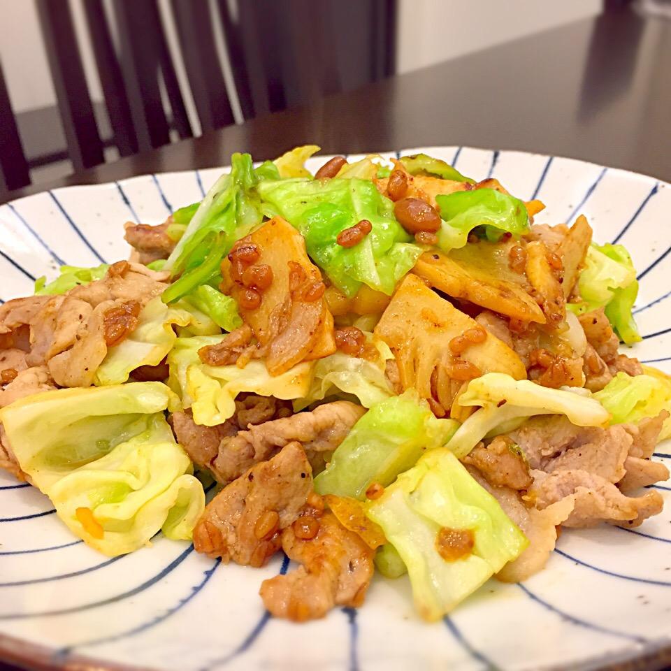 味噌 炒め キャベツ