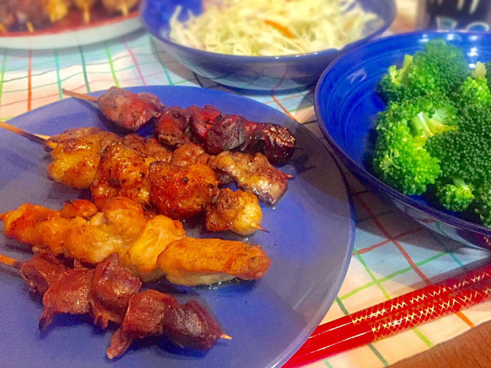2017/04/20 #dinner Japanese Yakitori(Japanese style grilled chicken)