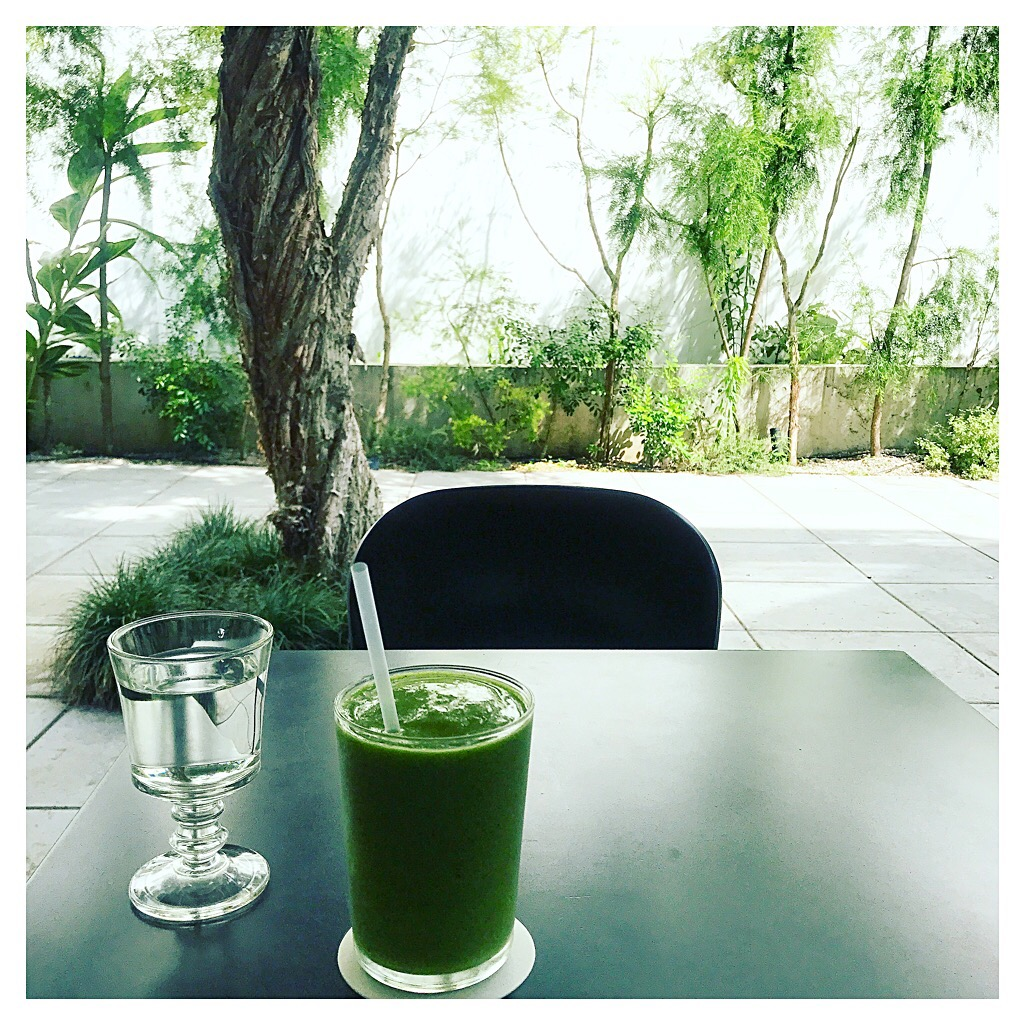 After YOGA Green smoothie