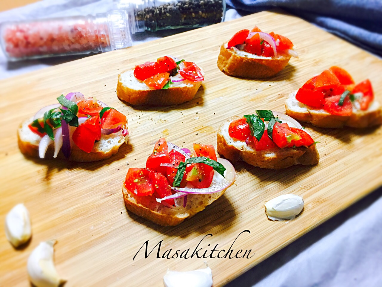 Bruschetta for the first dish of home party