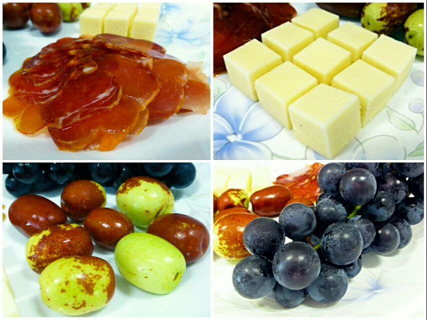jamon/Gouda/dates/grapes