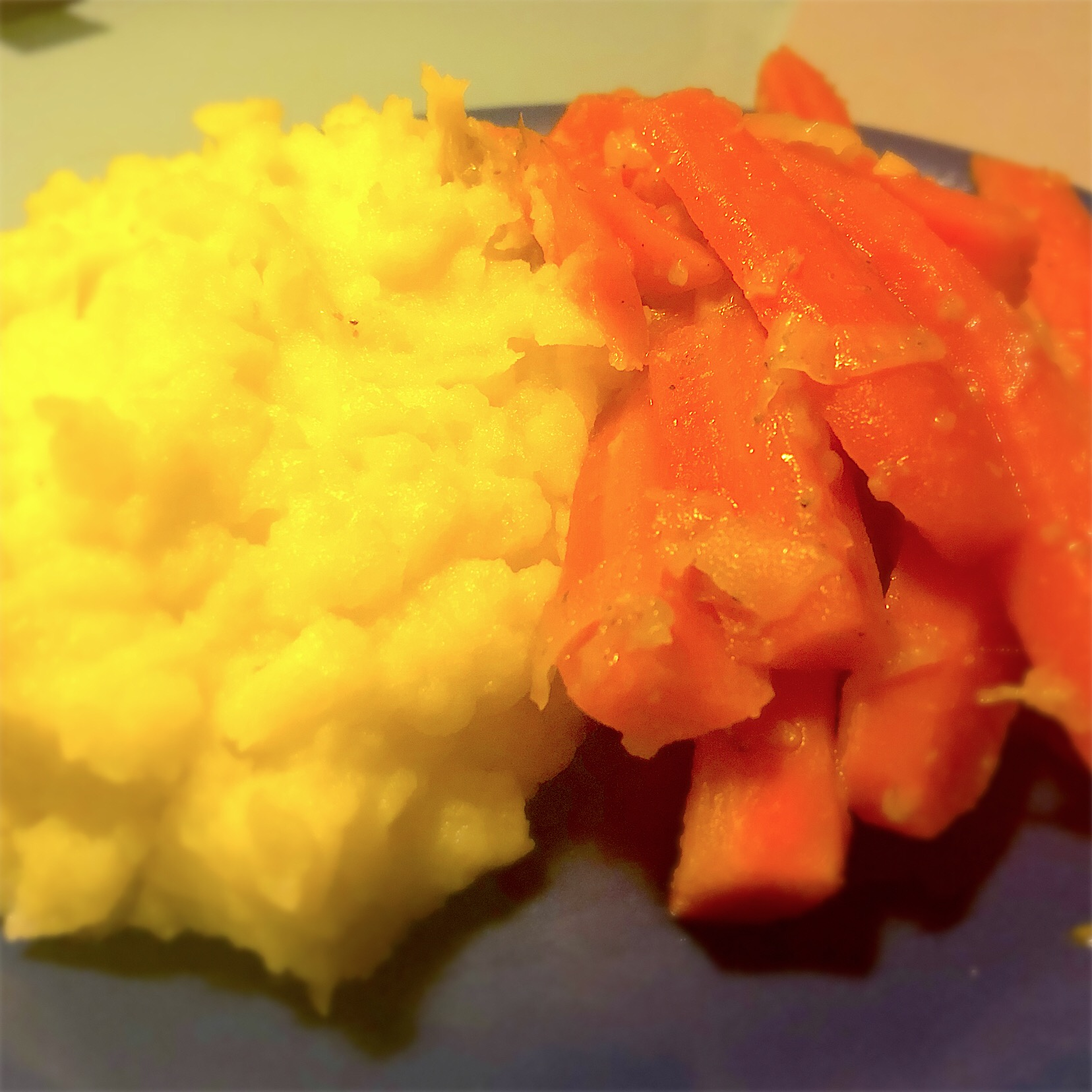 Sweet carrots and mash with Parmesan cheese