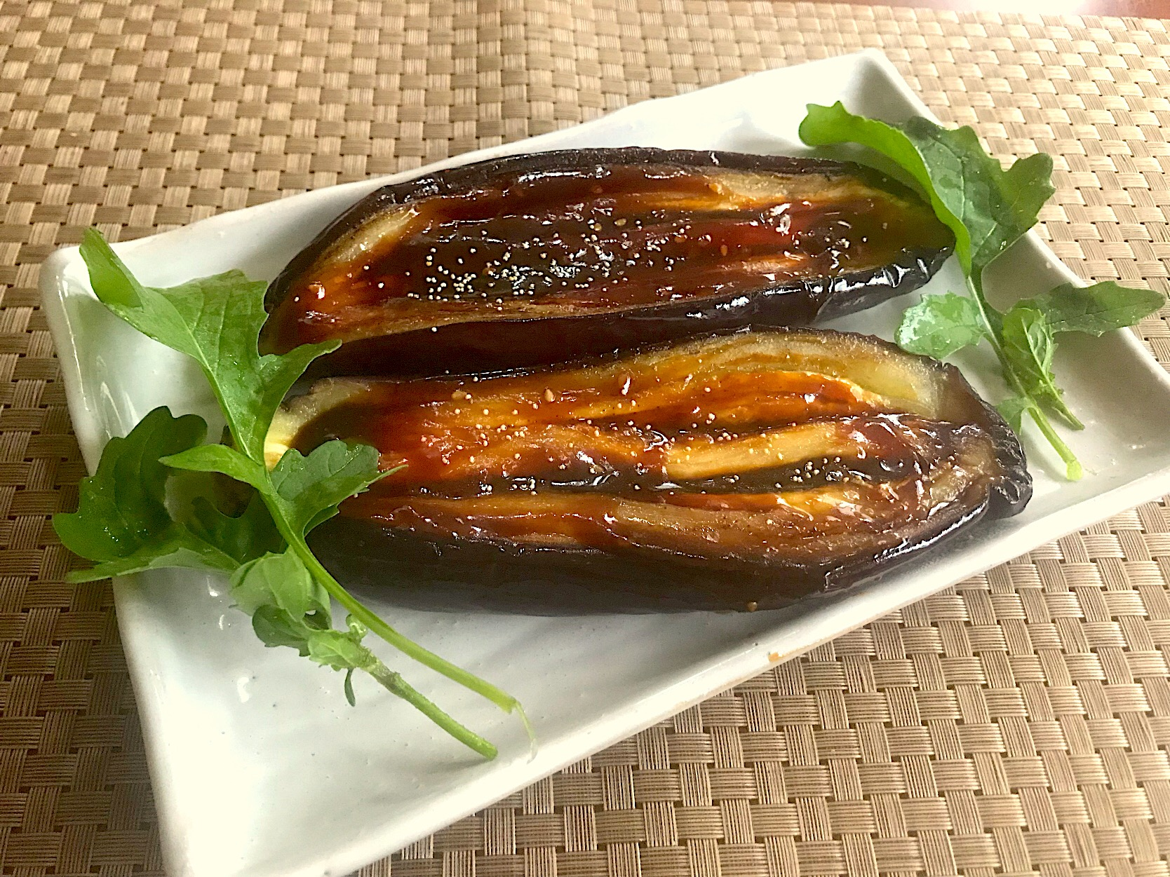 Grilled eggplant w/sweet miso paste🍆茄子田楽