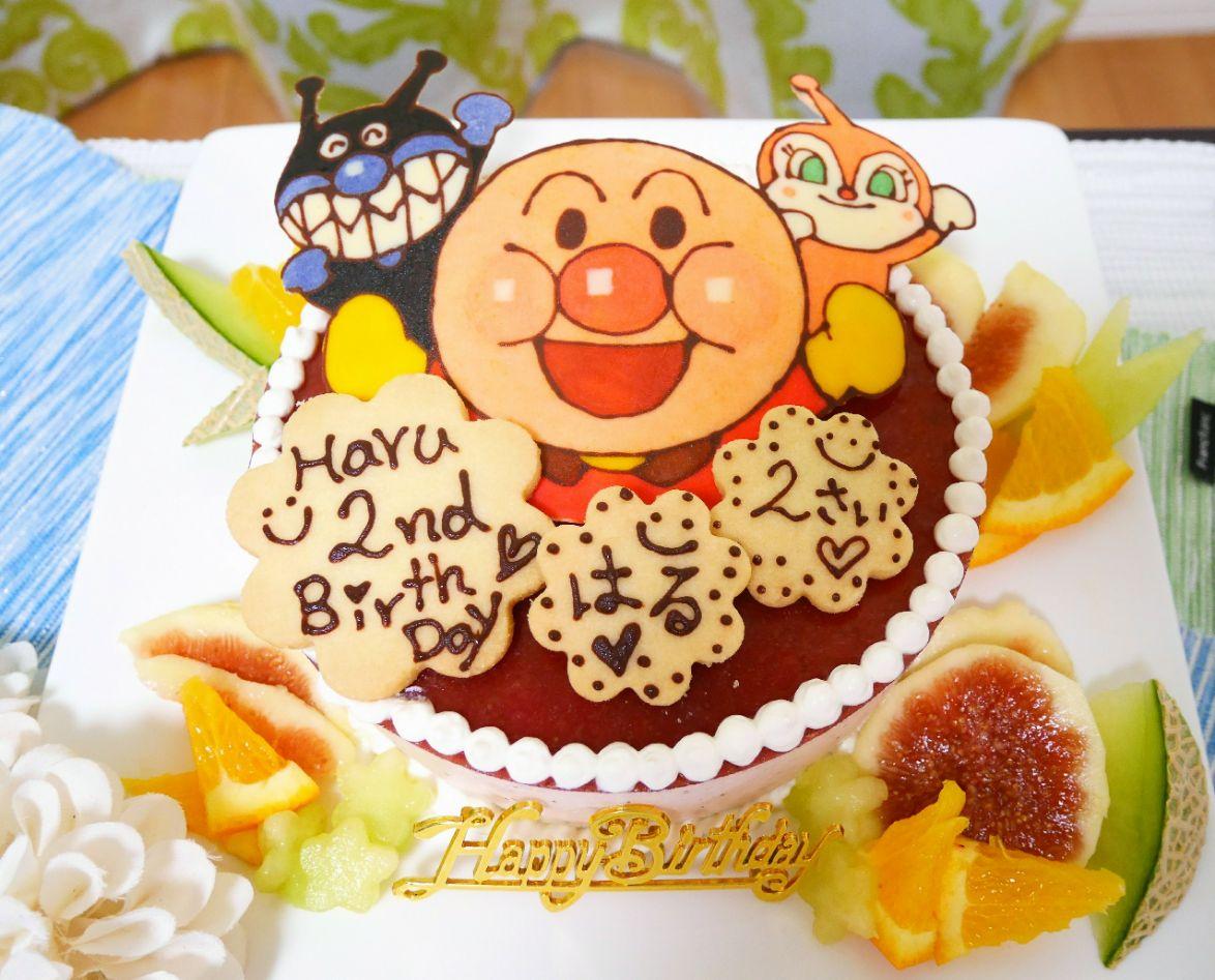 Yucca さんのおかんのいちごムースケーキ 息子2歳のアンパンマンbirthday Cake Pikyu Snapdish スナップディッシュ Id Xr1dia
