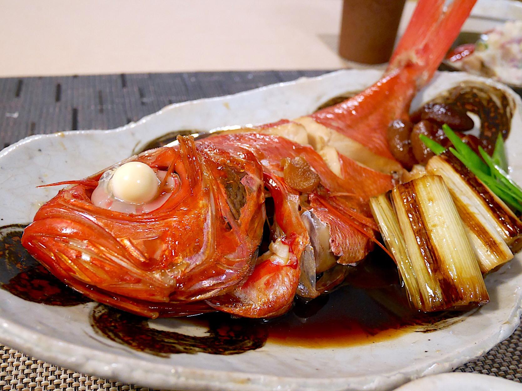 煮付け の 金目 鯛