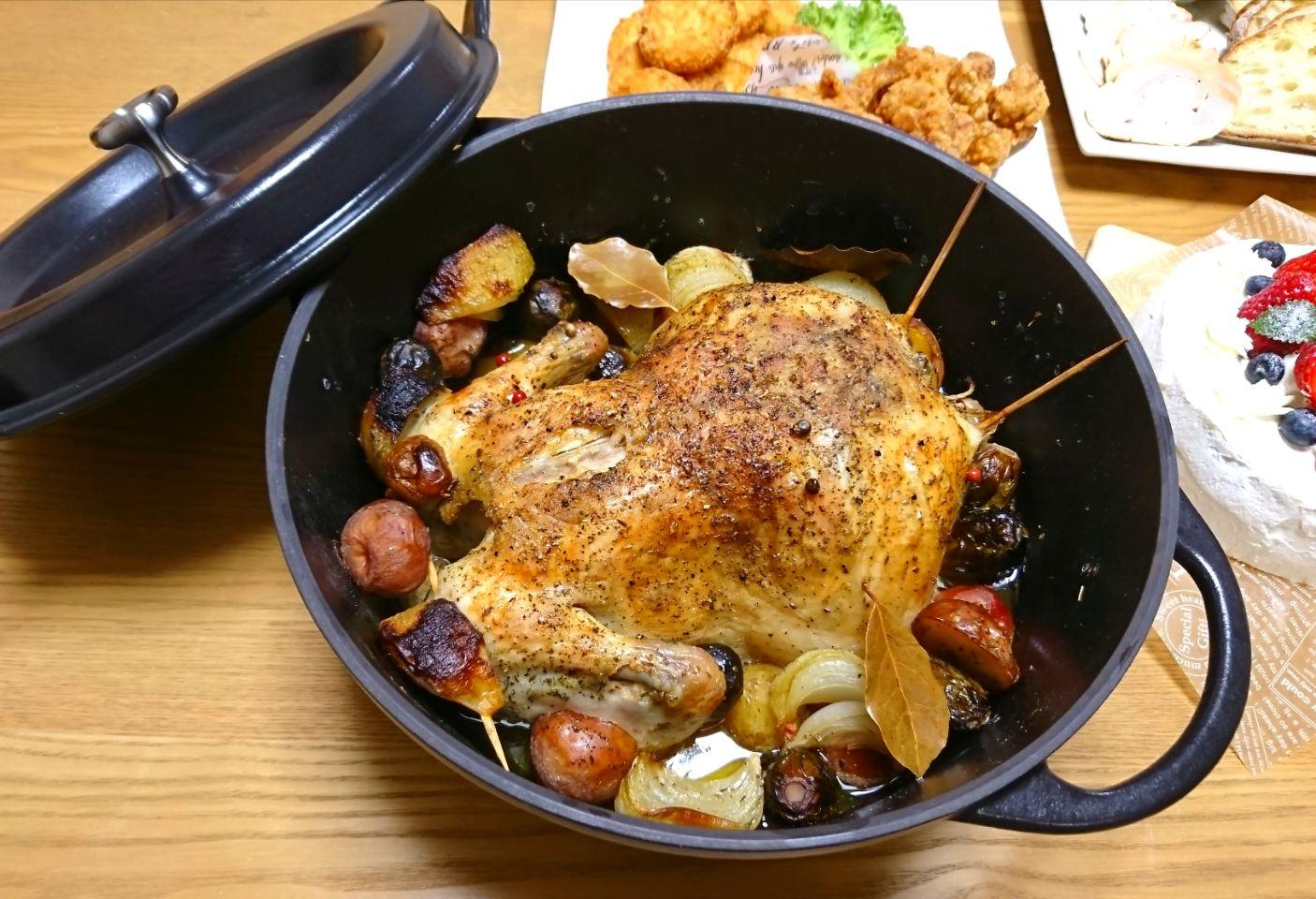 丸焼き オーブン チキン