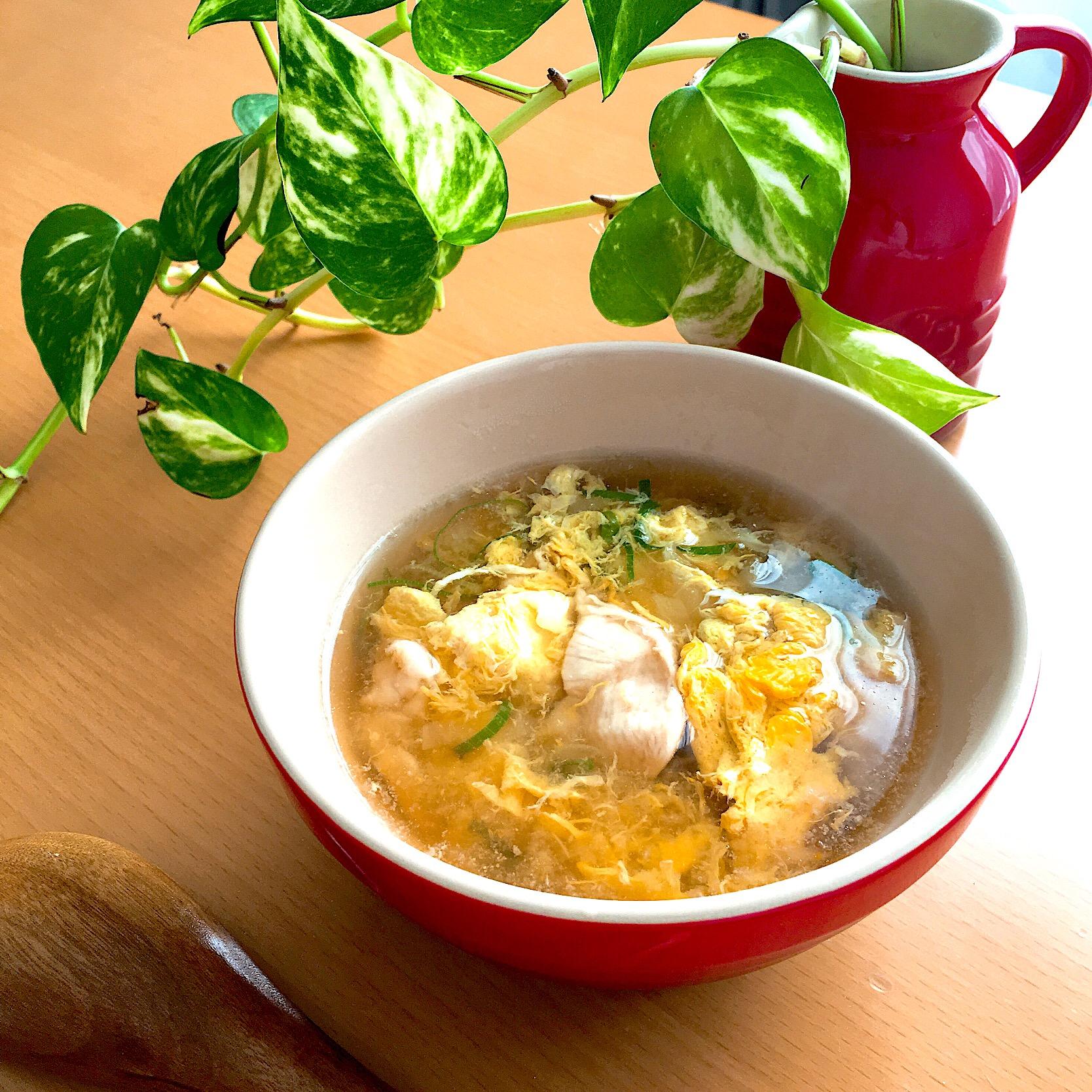 白菜 卵 スープ