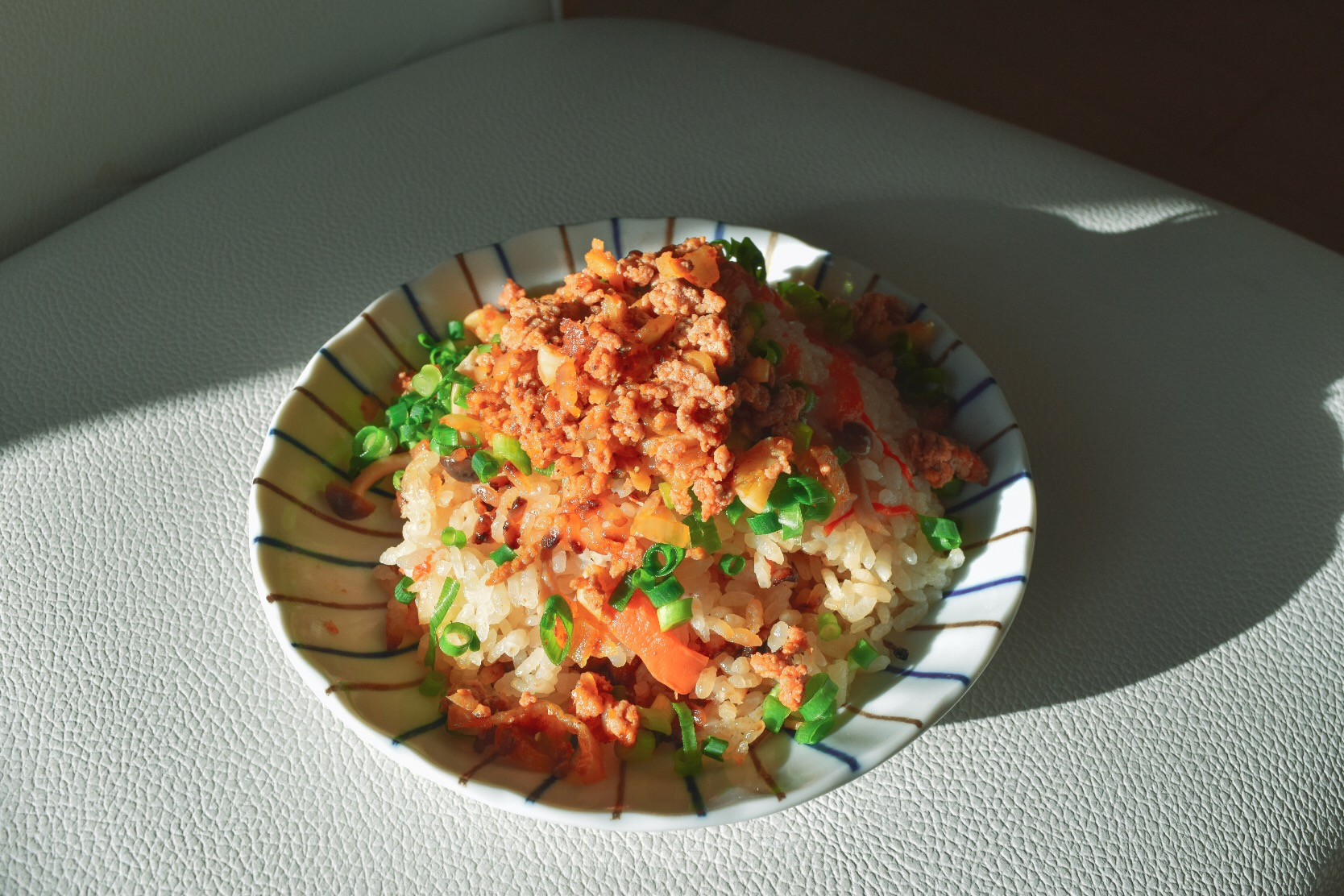 Fried rice with minced spicy pork