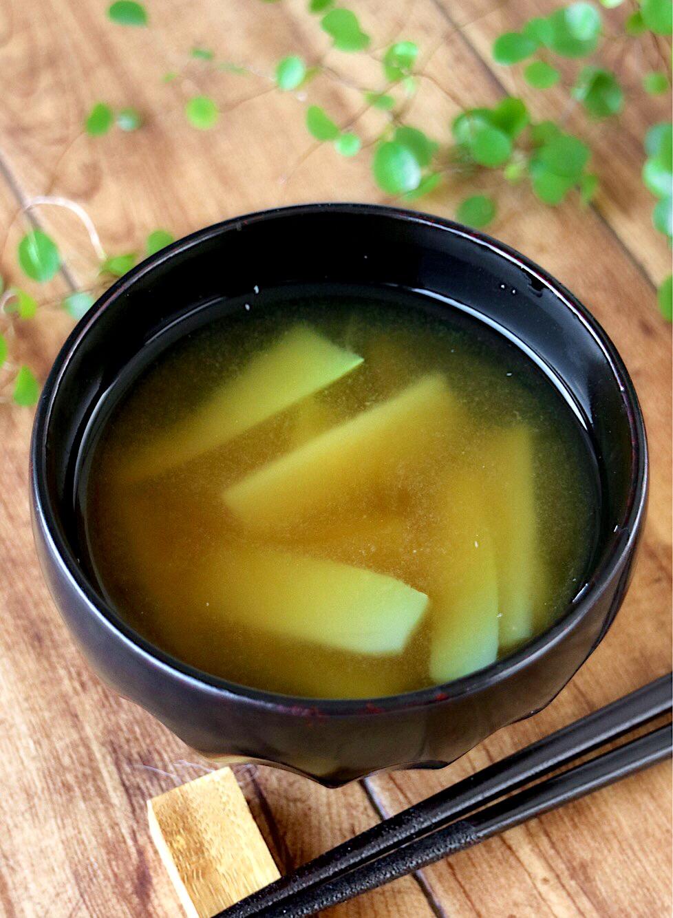ブロッコリー 味噌汁