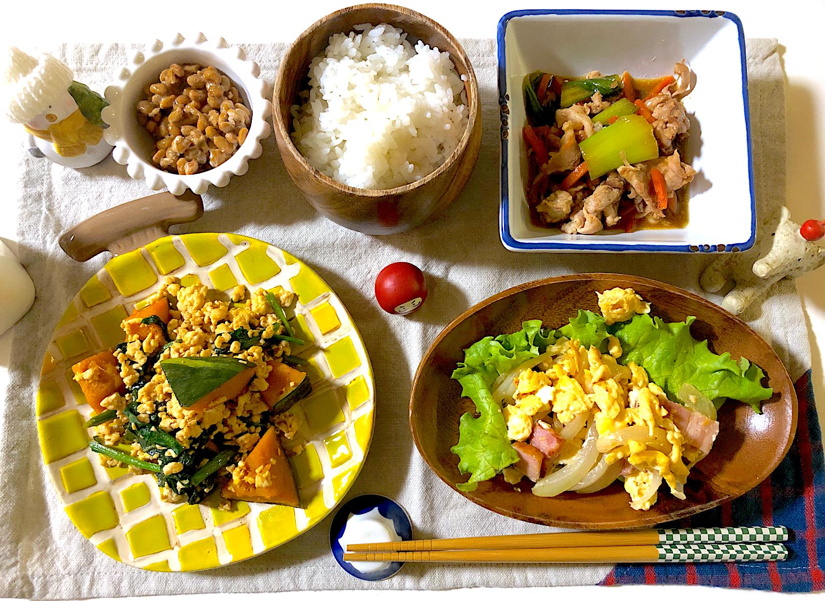 ひき肉 青 梗菜