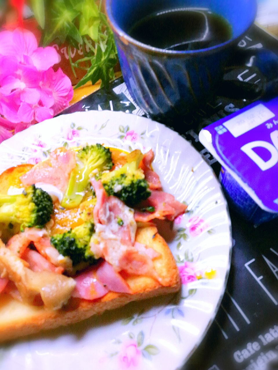 Today's breakfast😋delicious( ˘ ³˘)♥