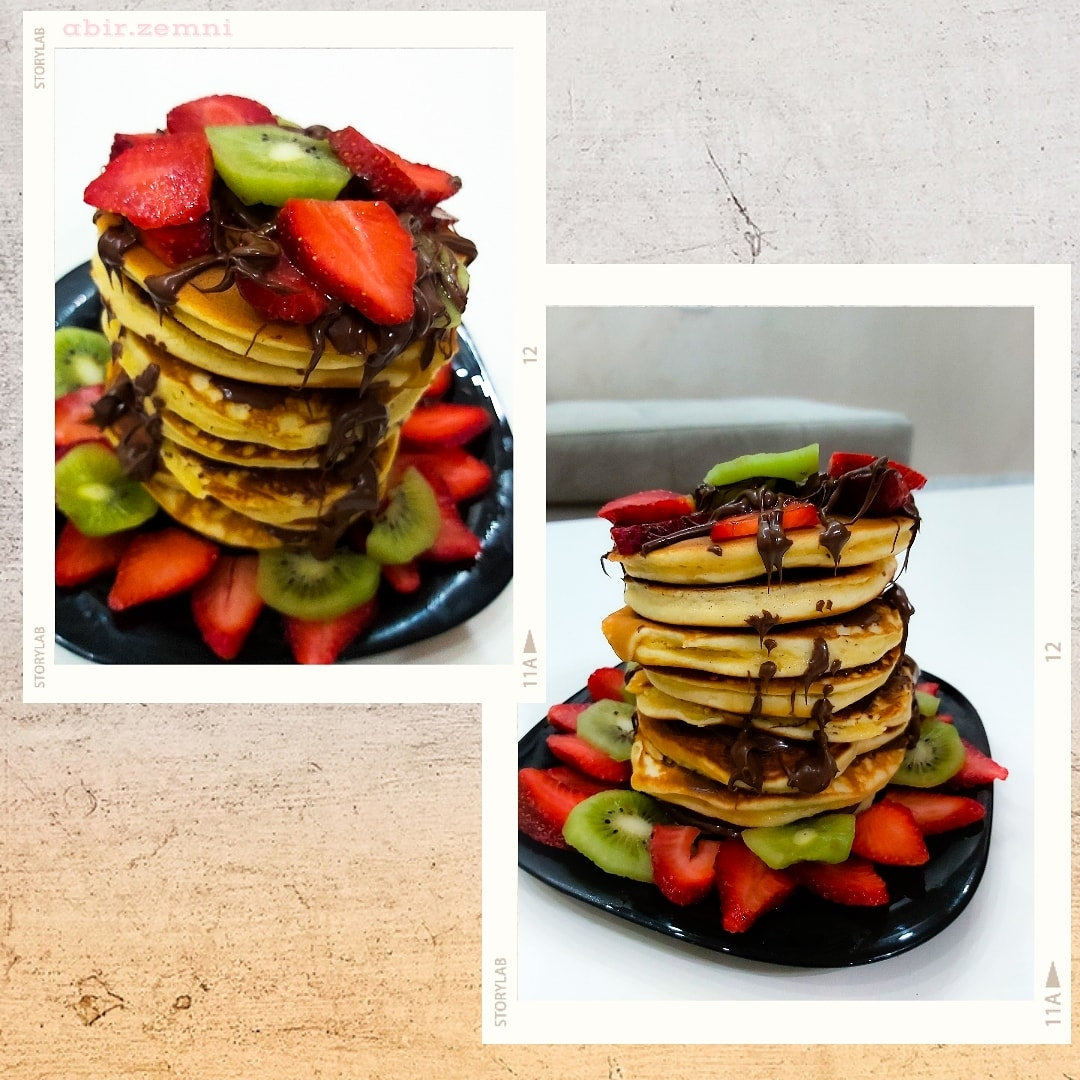 Pancakes Nutella strawberry kiwi 🥞🥞❤❤