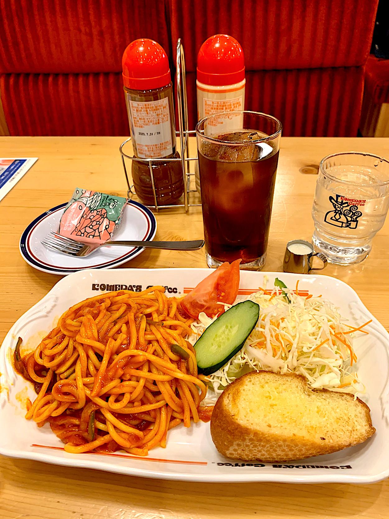 ナポリタン コメダ コメダ珈琲店のスパゲッティメニュー「あんかけスパ」と「ナポリタン」を食べてきたよ。